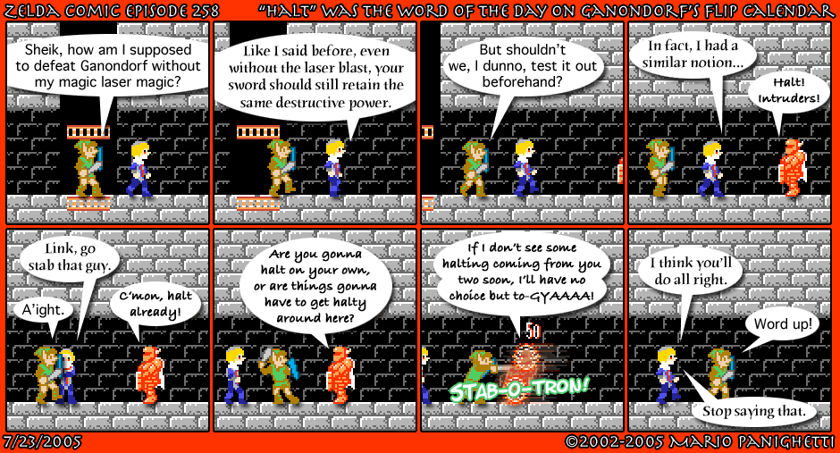 "Episode 258: ""Halt"" Was The Word Of The Day On Ganondorf's Flip Calendar"